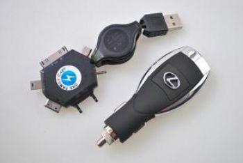 Автозарядное с логотипом LEXUS